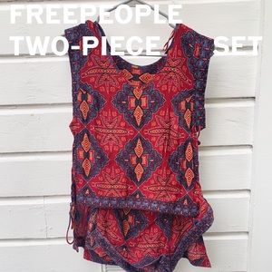 Free People two-piece romper set